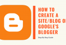 How to create a site on Google's Blogger: Technicate.in